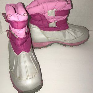 L.L. Bean Girls Size 6 Pink And Gray Winter Boots